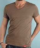 itself T-shirt | Pale Brown Vee