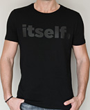 itself T-shirt | Black itself